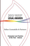 Acquisition International 2013 - Consuler Law Practice of the Year - Greece
